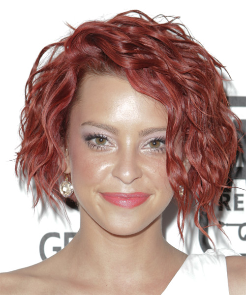 Courtney Davis Short Wavy Hairstyle - Medium Red
