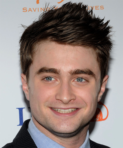 Daniel Radcliffe Short Straight Casual Hairstyle - Dark Brunette Hair Color