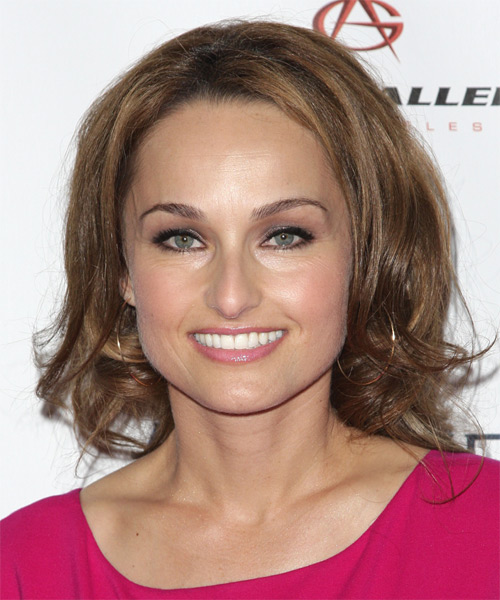 Giada De Laurentiis Medium Wavy Hairstyle - Light Brunette (Caramel)