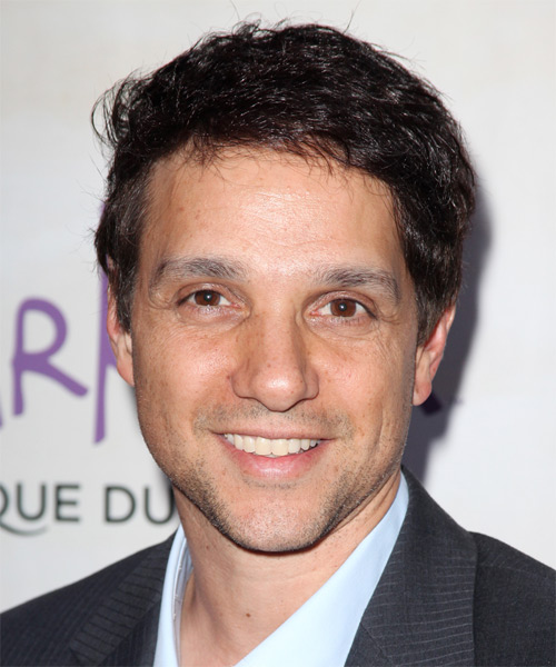 Ralph Macchio Short Straight Casual Hairstyle - Dark Brunette Hair Color