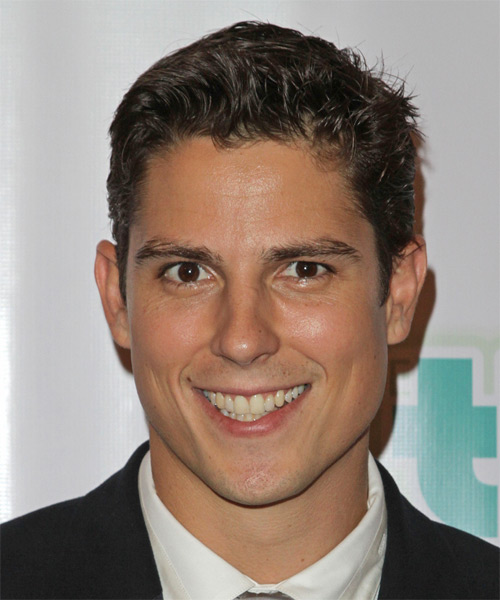 Sean Faris Short Straight Casual Hairstyle - Dark Brunette Hair Color