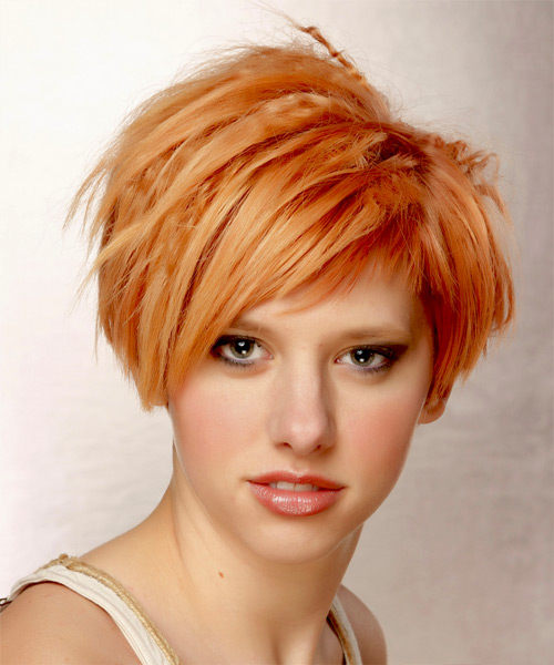 Short Straight Alternative Hairstyle - Orange