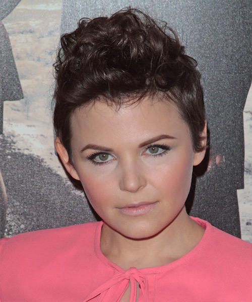 Ginnifer Goodwin Short Wavy Hairstyle - Medium Brunette (Chocolate)