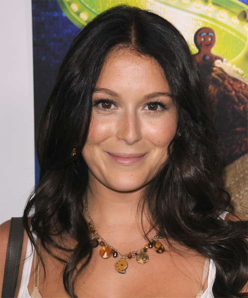 Alexa Vega Long Wavy Casual Hairstyle - Dark Brunette Hair Color