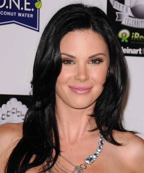 Jayde Nicole Long Straight Casual  - Black
