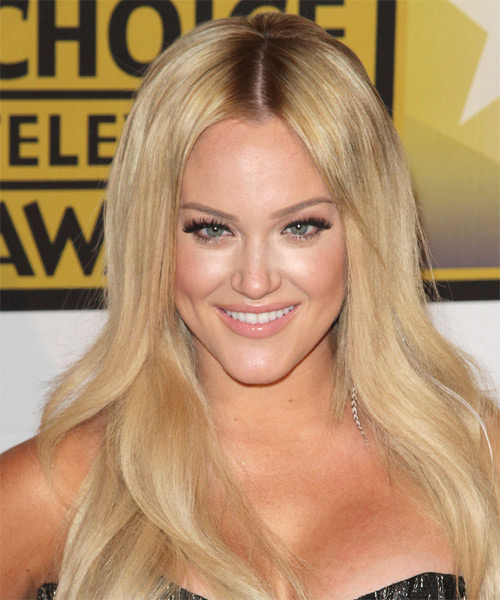 Lacey Schwimmer Long Straight Formal Hairstyle - Medium Blonde (Golden) Hair Color