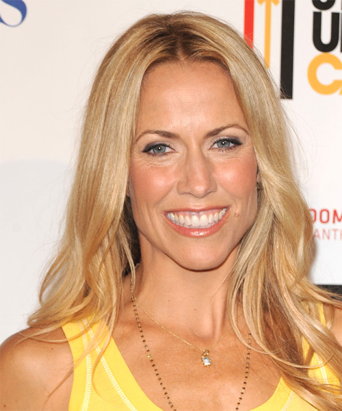 Sheryl Crow Long Straight Casual Hairstyle - Medium Blonde Hair Color