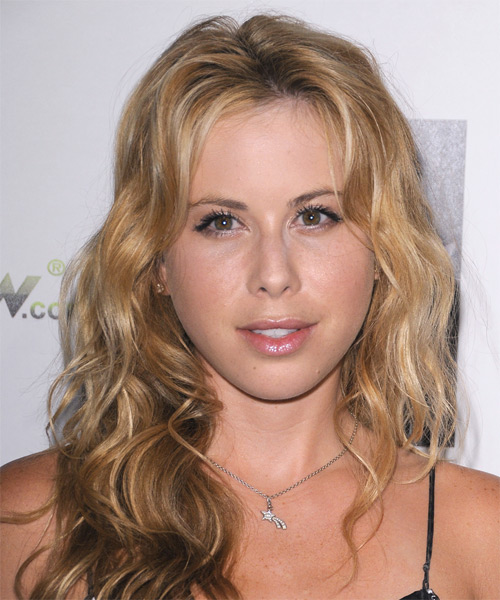 Tara Lipinski Long Wavy Hairstyle - Dark Blonde
