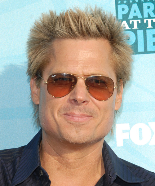 Kato Kaelin Short Straight Casual Hairstyle - Medium Blonde Hair Color