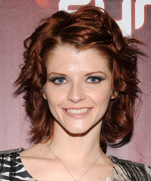 Joslyn James Medium Wavy Casual  - Dark Red (Auburn)