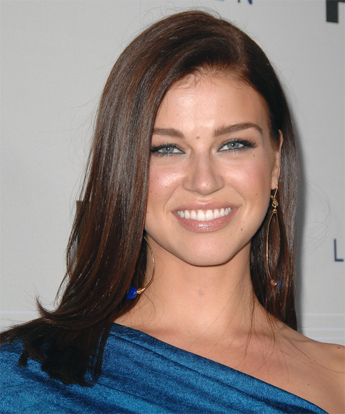 Adrianne Palicki Long Straight Formal Hairstyle - Dark Brunette Hair Color
