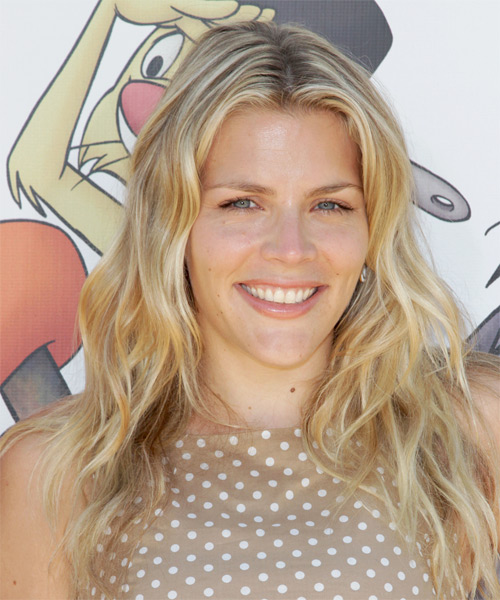 Busy Philipps  Long Wavy Casual Hairstyle - Medium Blonde Hair Color