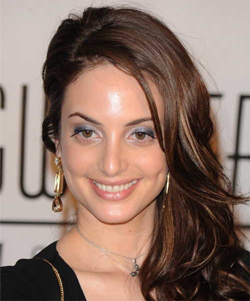 Alexa Ray Joel Long Wavy Formal Hairstyle - Dark Brunette Hair Color