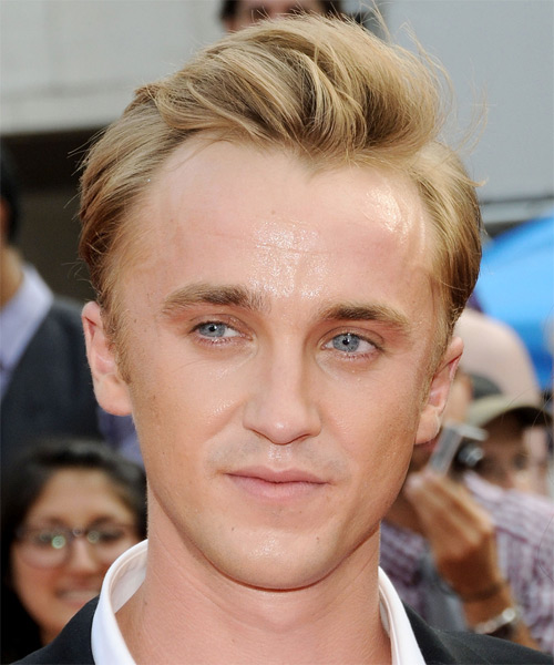 Tom Felton Short Straight Hairstyle - Medium Blonde