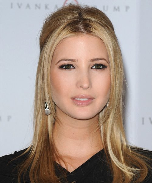 Ivanka Trump Long Straight Formal Half Up Hairstyle - Medium Blonde Hair Color