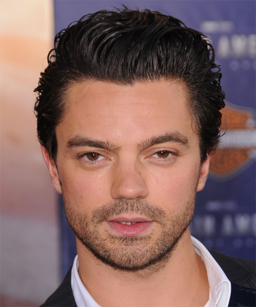 Dominic Cooper  Short Wavy Hairstyle - Black