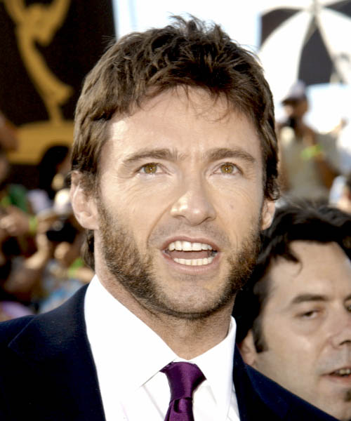 Hugh Jackman Short Straight Casual Hairstyle - Medium Brunette Hair Color