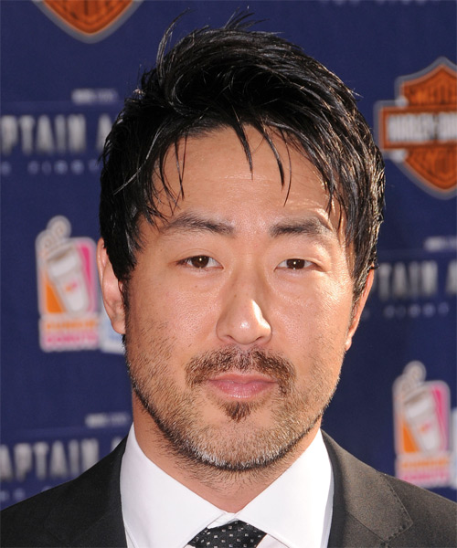Kenneth Choi Short Straight Casual Hairstyle - Black Hair Color