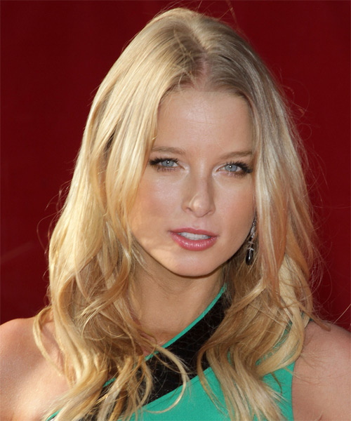 Rachel Nicols Long Wavy Casual Hairstyle - Light Blonde (Champagne) Hair Color