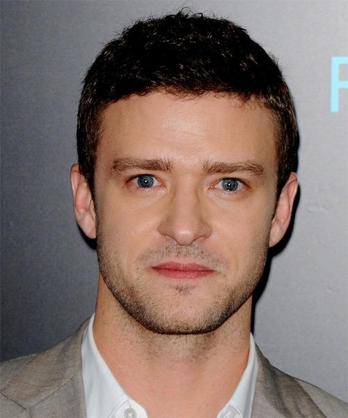 Jusitn Timberlake Short Wavy Hairstyle - Dark Brunette