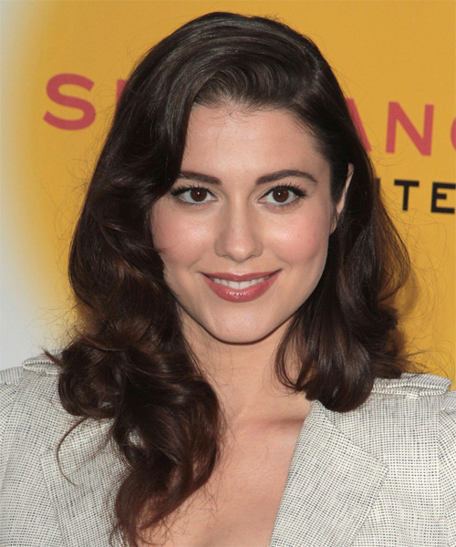 Mary Elizabeth Winstead Long Wavy Formal Hairstyle - Dark Brunette Hair Color