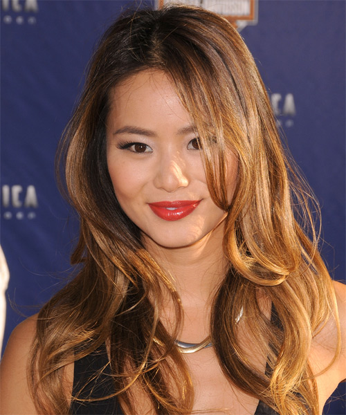 Jamie Chung Long Straight Casual Hairstyle - Medium Brunette Hair Color