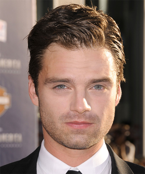 Sebastian Stan Short Straight Formal Hairstyle - Medium Brunette Hair Color
