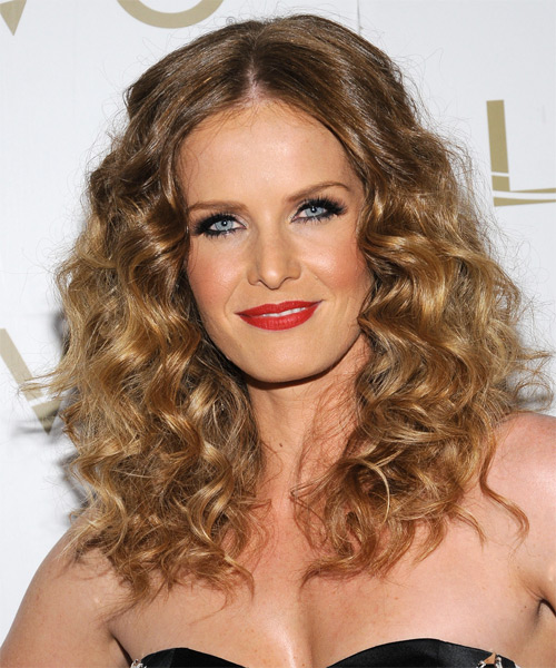 Rebecca Mader Long Curly Hairstyle - Dark Blonde