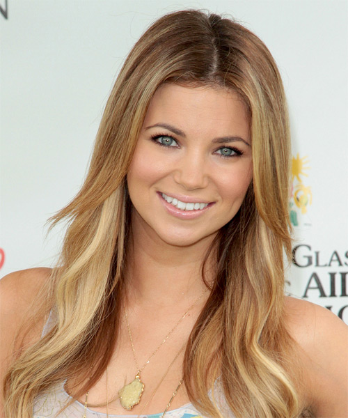 Amber Lancaster Long Straight Hairstyle - Dark Blonde