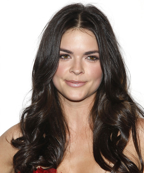 Katie Lee Long Wavy Hairstyle - Black