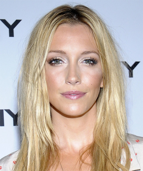 Katie Cassidy Long Straight Hairstyle - Light Blonde (Champagne)