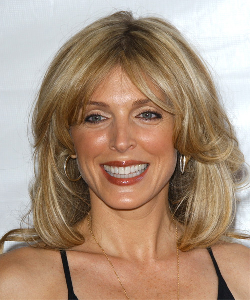 Marla Maples Medium Straight Casual Hairstyle - Dark Blonde Hair Color