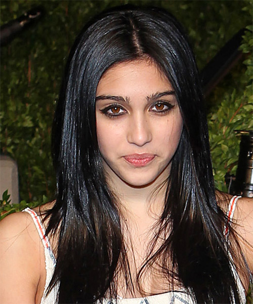 Lourdes Leon Long Straight Casual Hairstyle - Black Hair Color