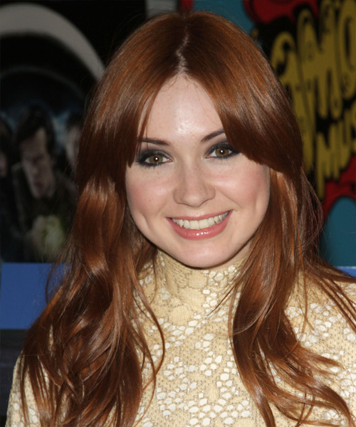 Karen Gillan - Casual Long Straight Hairstyle