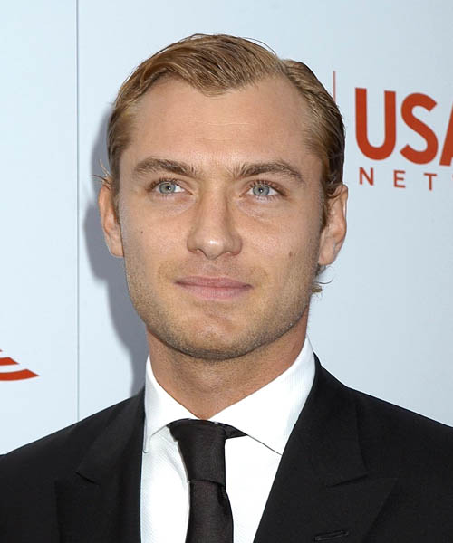 mens wavy hairstyles. Short Wavy Formal hairstyle: Jude Law | TheHairStyler.