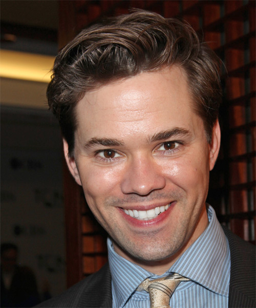 Andrew Rannells Short Straight Hairstyle - Medium Brunette
