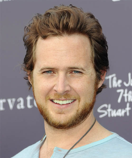 A.J. Buckley Short Wavy Casual Hairstyle