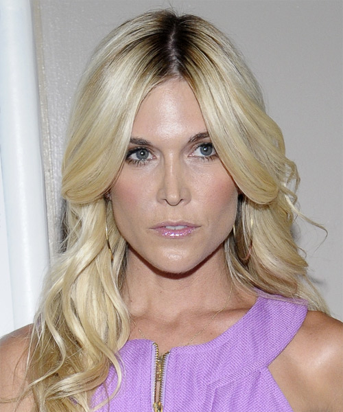 Tinsley Mortimer Long Wavy Formal Hairstyle - Light Blonde Hair Color