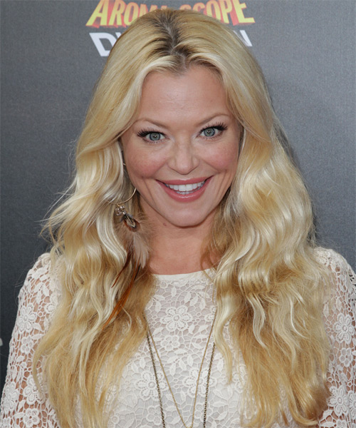 Charlotte Ross Long Wavy Casual Hairstyle - Medium Blonde (Golden) Hair Color
