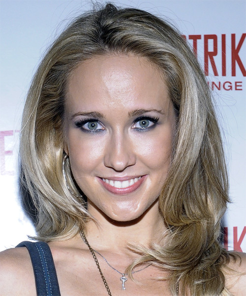 Anna Camp Long Straight Formal Hairstyle - Dark Blonde Hair Color