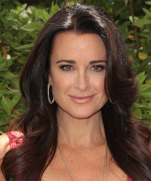Kyle Richards Long Straight Formal Hairstyle - Dark Brunette Hair Color