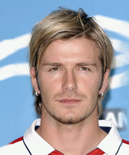 David Beckham Medium Straight Hairstyle