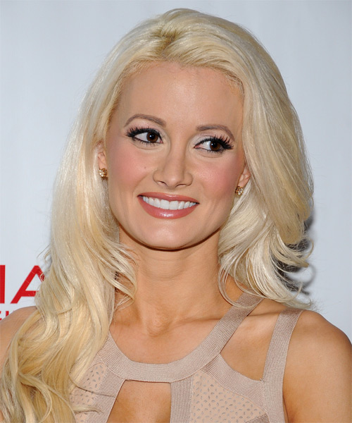 Holly Madison Long Wavy Hairstyle - Light Blonde