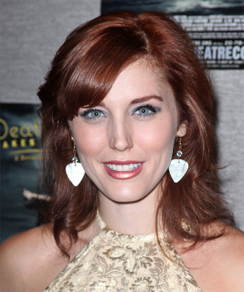 Mara Davis Medium Straight Hairstyle - Dark Red (Copper)