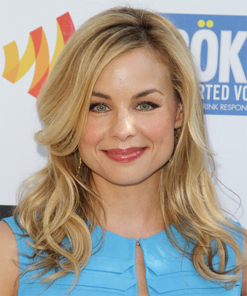 Jessica Collins Long Wavy Hairstyle - Medium Blonde (Golden)