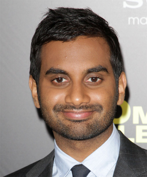 Aziz Ansari  Short Straight Formal Hairstyle - Black Hair Color