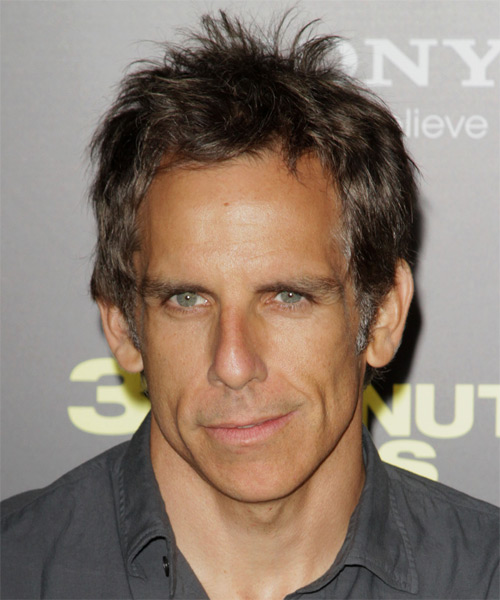 Ben Stiller Short Straight Casual Hairstyle - Medium Brunette Hair Color