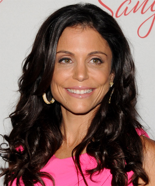 Bethenny Frankel Long Wavy Hairstyle - Black