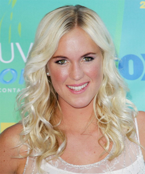 Bethany Hamilton Long Curly Hairstyle - Light Blonde (Platinum)