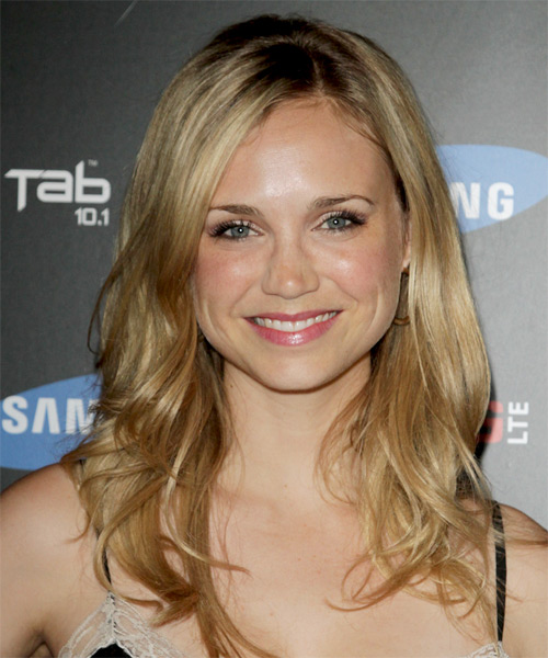 Fiona Gubelmann Long Straight Casual Hairstyle - Dark Blonde (Golden) Hair Color